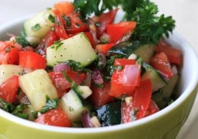 Israeli Tomato and Cucumber Salad
