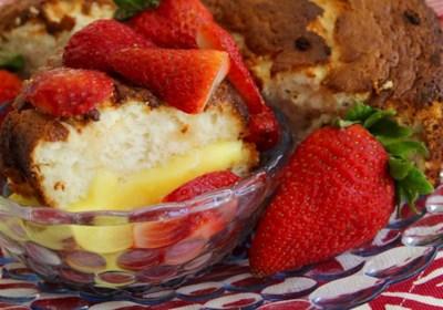 Honey Angel Food Cake