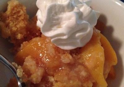 Peach Cobbler Dump Cake I
