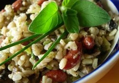 Herbed Rice and Spicy Black Bean Salad