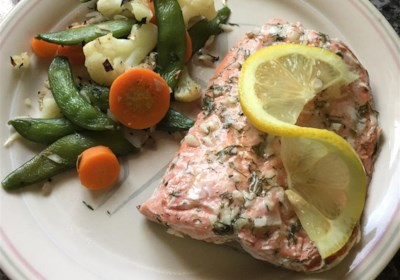 Salmon with Lemon and Dill