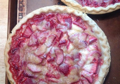 Chef Neal's Strawberry-Rhubarb Sour Cream Pies
