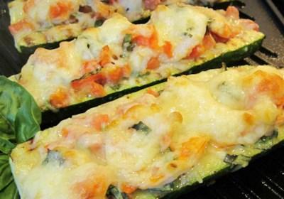 Nat's Shrimp and Veggie Stuffed Zucchini