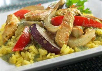 Thai Ginger Chicken with Yellow Jasmine Rice