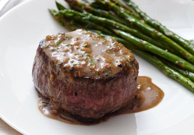 Oven-Seared Beef Tenderloin with Herb Pan Sauce