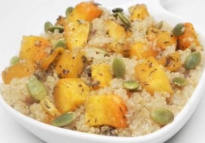 Roasted Butternut Squash Quinoa with Pumpkin Seeds