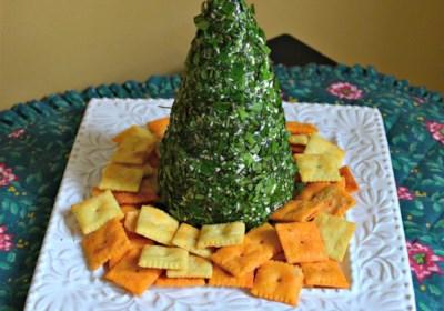 Cream Cheese, Havarti, and Parmesan Herbed Christmas Tree