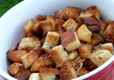 Cheese Garlic Croutons