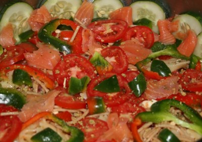 Holly's Smoked Salmon Pasta Salad