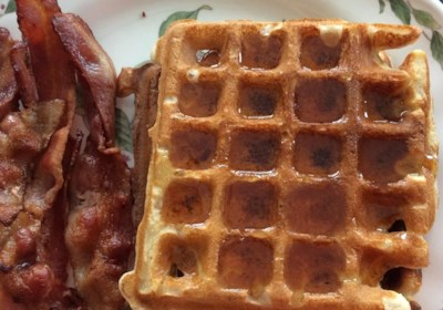 Whole Wheat Coconut Oil Waffles