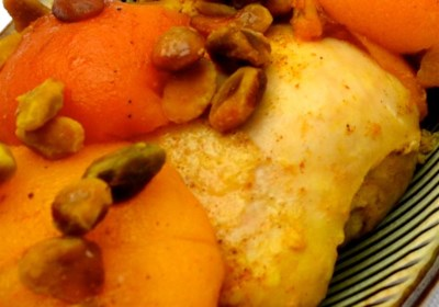 Tangy Chicken with Pistachios and Fruit