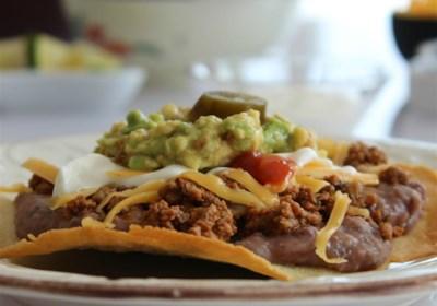 Crispy Oven Beef-and-Bean Tostadas