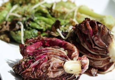 Roasted Lettuce, Radicchio, and Endive