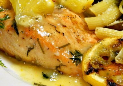 Big Ray's Lemony Grilled Salmon Fillets with Dill Sauce