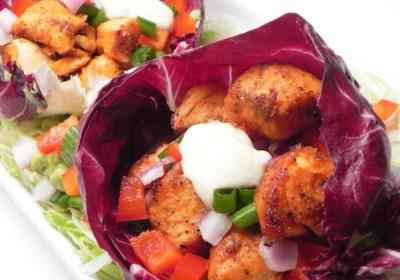 Grilled Salmon Radicchio Wraps