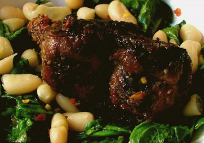 Chef John's Pork and Beans and Greens