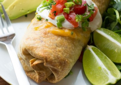 Baked Chicken and Rice Chimichangas