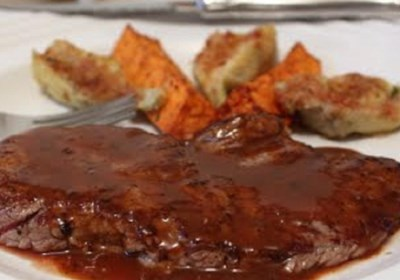 Minute Steaks with Barbeque Butter Sauce