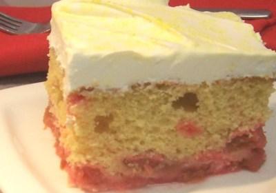 Maryann's Upside Down Rhubarb Cake