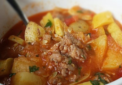 Summer Squash and Sausage Stew