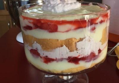 Strawberry Shortcake Punch Bowl Cake
