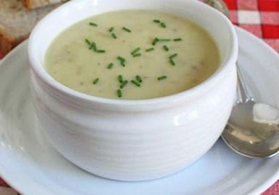 Cream of Green Garlic and Potato Soup