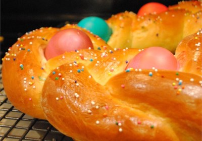 Braided Easter Egg Bread
