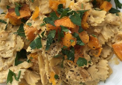 Isa's Butternut Squash Vegan Alfredo Pasta