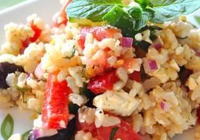 Greek Rice Salad