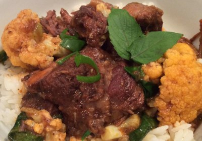 Short Rib and Cauliflower Curry