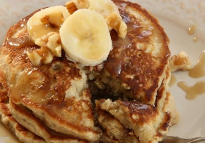 Easy Banana Nut Pancakes