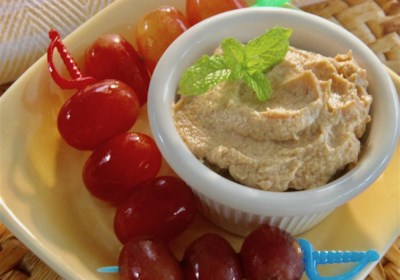 Spiced Peanut Butter Yogurt Dip