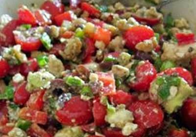 Feta Cheese with Basil Salad