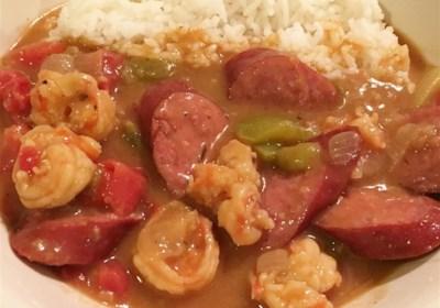 Easy Sausage and Shrimp Gumbo