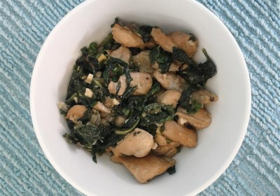 Asian Chicken Thighs With Mustard Greens