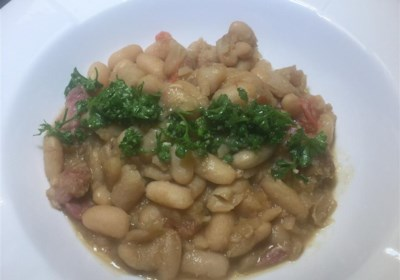 Smoked Pork Shank with White Beans