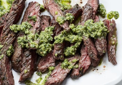 Tuscan Skirt Steak with Salsa Verde
