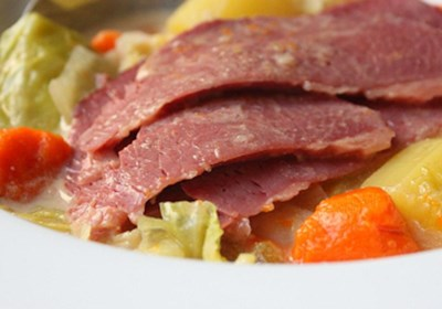 Coconut Milk Corned Beef and Cabbage