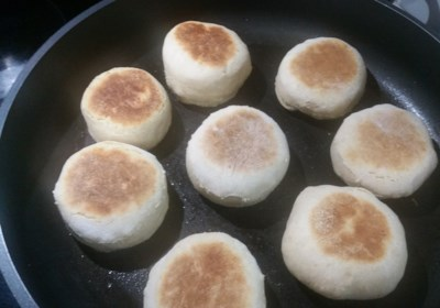Sourdough Amaranth Wheat English Muffins