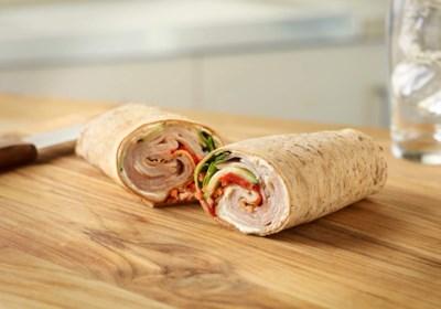 Crispy Vegetable Turkey Wrap