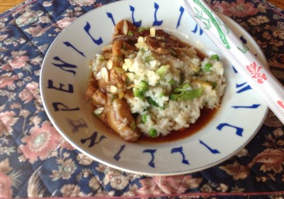 Chinese-Style Pork Belly with Fried Rice