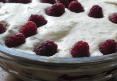 Raspberry Tiramisu Trifle