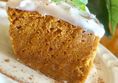 Pumpkin Magic Cake with Maple Cinnamon Whipped Cream