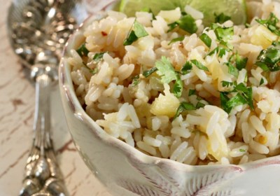 Instant Pot® Pineapple-Coconut-Lime Rice