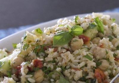 Greek Brown Rice Salad