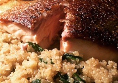 Rick's Sauteed Salmon over Quinoa