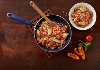 20-Minute Basil, Chicken & Tomato Rice