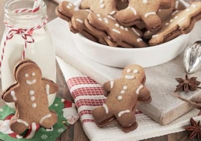 Gingerbread Men Cookies with Nutella® hazelnut spread