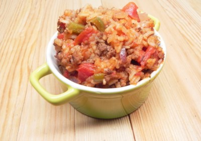 Baked Spanish Rice and Beef