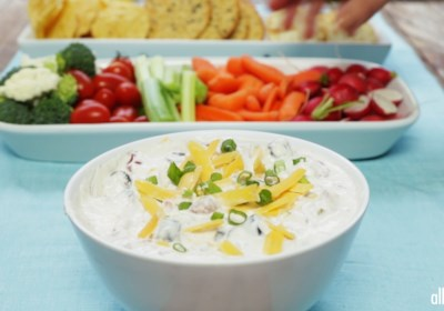 Cheesy Sour Cream and Salsa Dip